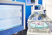 Incubator for newborns and control monitor
