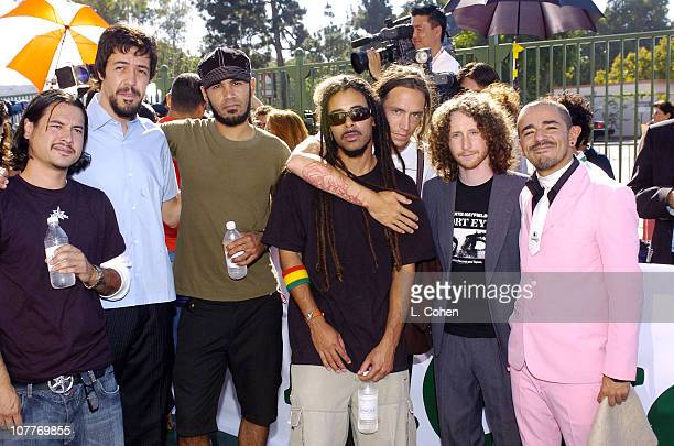 Incubus and Cafe Tacuba during The 5th Annual Latin GRAMMY Awards Green Carpet at Shrine Auditorium in Los Angeles California United States
