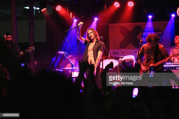 Incubus performs onstage at the Island Records showcase during the 2015 SXSW Music Film Interactive Festival at The Belmont on March 19 2015 in...