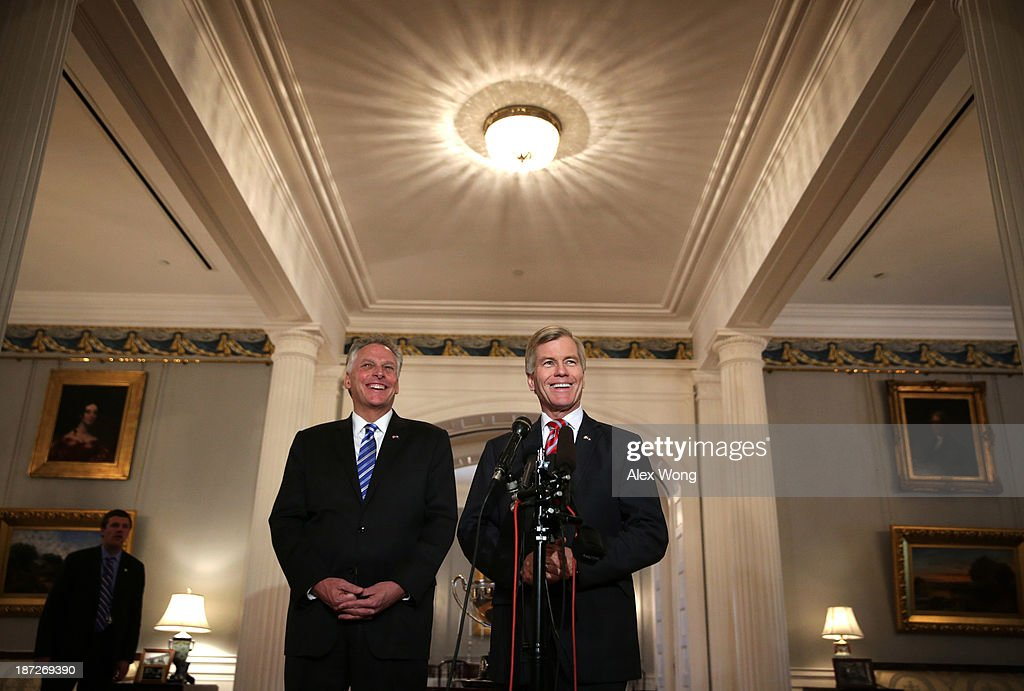 Bob McConnell Hosts Gov-Elect Terry McAuliffe At Governor's Mansion