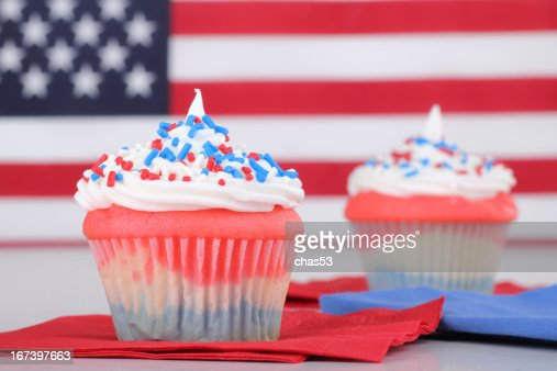 Independence Day Cupcakes : Stock Photo