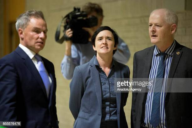 Independence Party candidate and Sharia Watch founder Anne Marie Waters arrives at the Riviera International Conference Centre ahead of the...