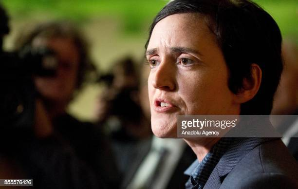 Independence Party candidate and Sharia Watch founder Anne Marie Waters speaks to the media at the Riviera International Conference Centre ahead of...