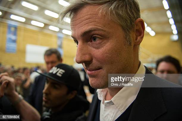 Independent candidate Zac Goldsmith leaves the count after Liberal Democrat candidate Sarah Olney is announced as the winner of the Richmond Park...