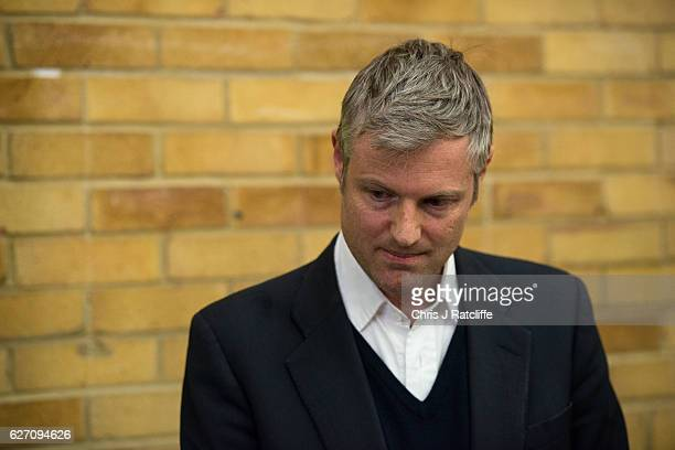 Independent candidate Zac Goldsmith reacts as Liberal Democrat candidate Sarah Olney is announced as the winner of the Richmond Park byelection at...