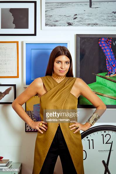 Independent curator and creative director Roya Sachs is photographed for Avenue Magazine on November 5 2015 in New York City