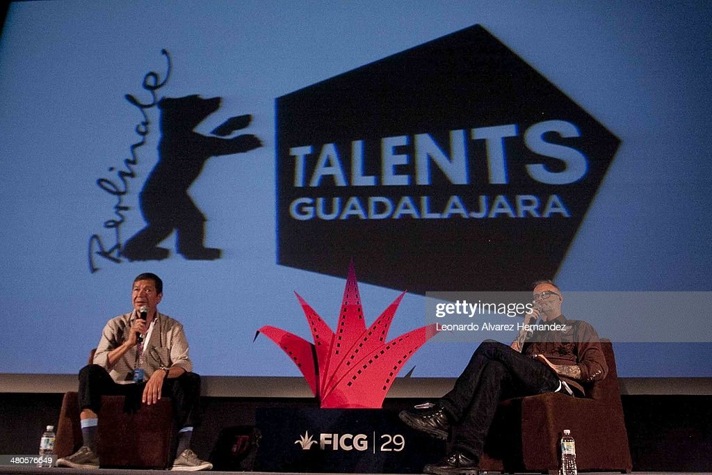 Independent Director and Producer Denis Coté attends to the Master Class conference to speak about his experience during the Guadalajara International Film Festival at Talen Campus Section on March 25, 2014 in Guadalajara, Mexico.