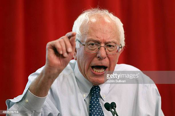 Independent presidential candidate US Sen Bernie Sanders speaks during a 'Brunch with Bernie' campaign rally at the National Nurses United offices on...
