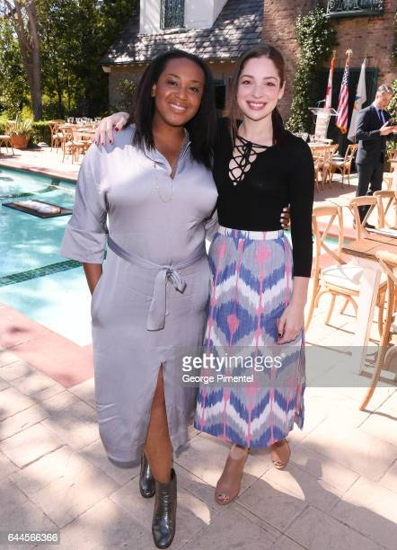Independent Spirit Award Nominee Stella Meghie and actress Anna Hopkins attends the Canadian Brunch Reception Honoring Canadian Nominees For The 89th...