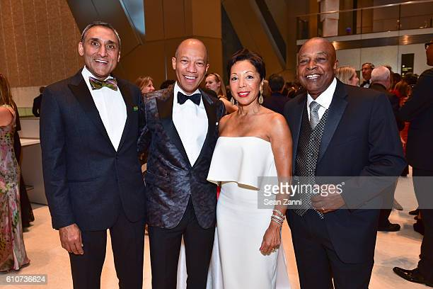 Inder Dhillon Ken McNeely Caretha Coleman and Ken Coleman attend Abstracted Black Tie Dinner Hosted by Pamela Joyner Fred Giuffrida and the Ogden...