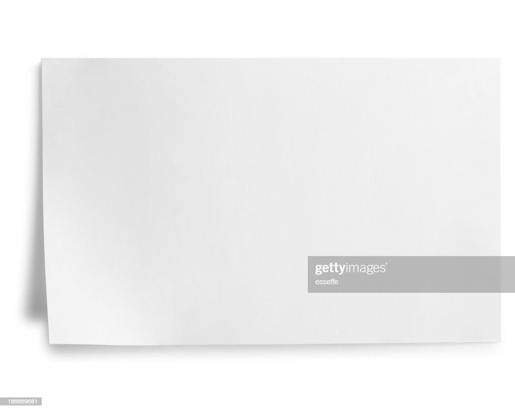 index card isolated on white