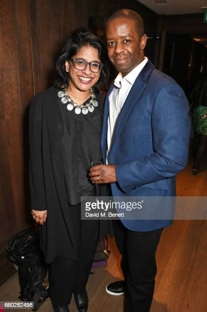 Indhu Rubasingham and Adrian Lester attend the inaugural Tonic Awards celebrating the achievements of women who are changing the face of UK theatre...