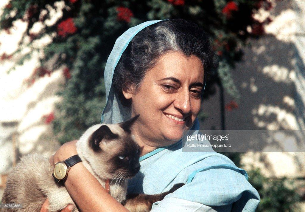 India A portrait of Indian Prime Minister Mrs Indira Gandhi
