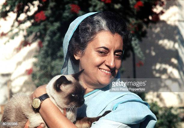 India A portrait of Indian Prime Minister Mrs Indira Gandhi