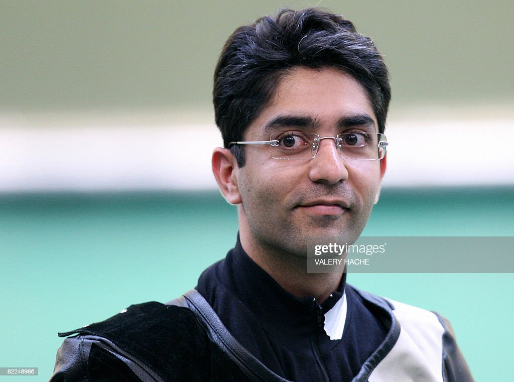 India Abhinav Bindra of India wins the gold medal for the Men's 10m Air Rifle competition at the 2008 Beijing Olympic Games on August 11 2008 at the...