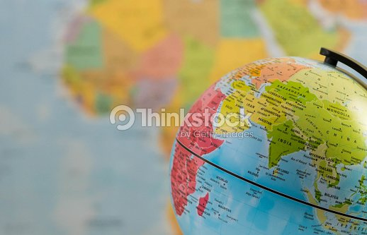 India and the world : Stock Photo