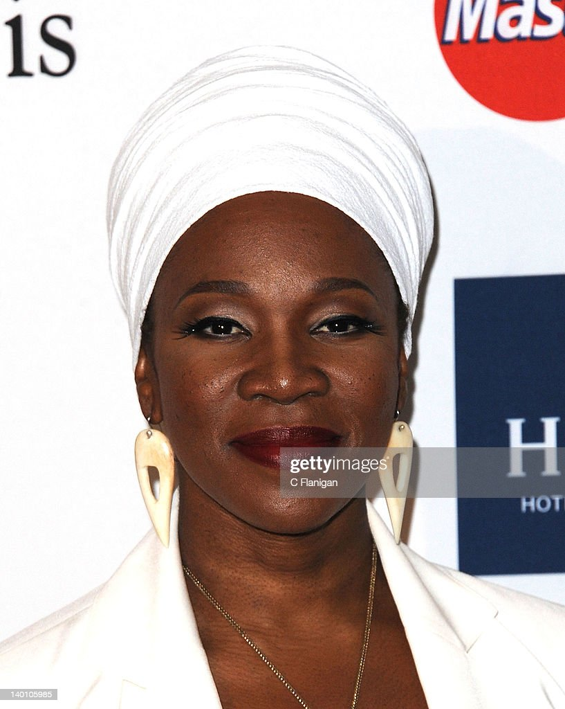 India Arie arrives at Clive Davis and The Recording Academy's 2012 Salute To Industry Icons Gala at The Beverly Hilton hotel on February 11, 2012 in Beverly Hills, California.