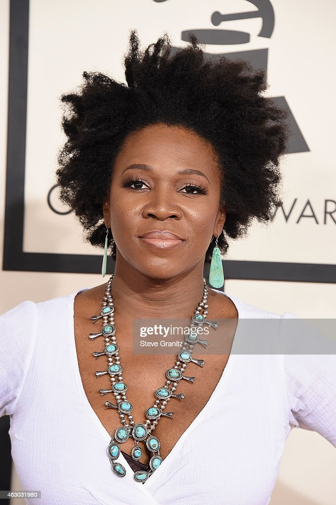 India Arie Attends Annual Grammy Awards Staples Picture Zoe Saldana Los Angeles