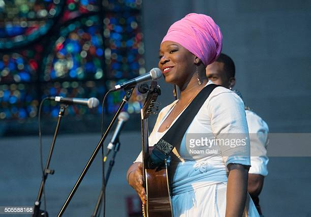 India Arie performs at the 2016 MLK Now at Riverside Church on January 18 2016 in New York City