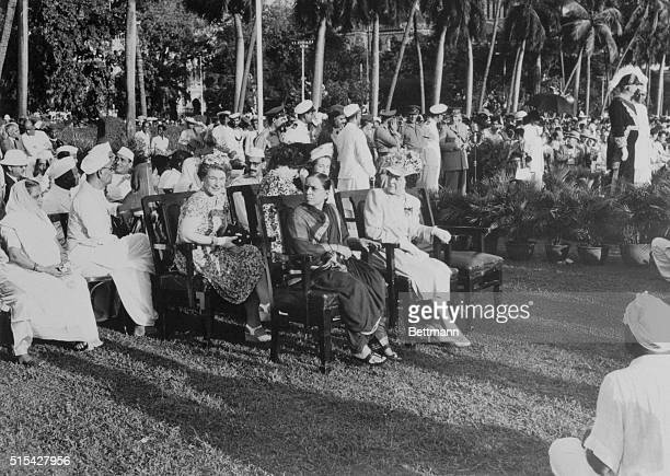 As Bombay Celebrated First Ladies Lady Colville wife of Bombay's Governor and Mrs B G Kher wife of the Premier were seated side by side as they...