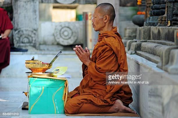 India Bihar Bodh Gaya UNESCO World Heritage Site Mahabodhi Temple Complex Buddhist temple where Siddhartha Gautama the Buddha attained enlightenment...