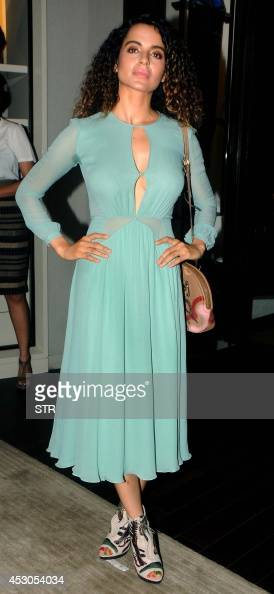 India Bollywood film actress Kangana Ranaut poses during the launch of the cover of Grazia Magazine in Mumbai on August 1 2014 AFP PHOTO