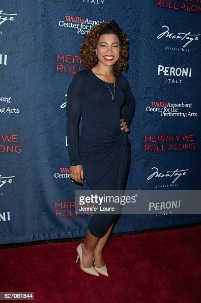 India Carney arrives at the Opening Night of 'Merrily We Roll Along' at the Wallis Annenberg Center for the Performing Arts on November 30 2016 in...