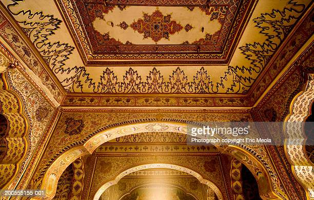 India, ceiling of palace in Jaisalmer, low angle view