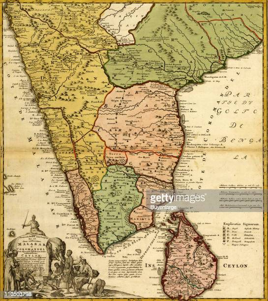 India Ceylon The Malabar Coast Illustration by Homann Erben
