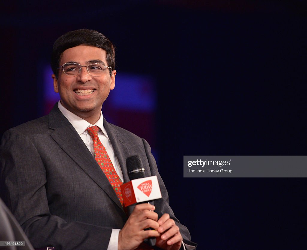 India chess Champion <a gi-track='captionPersonalityLinkClicked' href=/galleries/search?phrase=Viswanathan+Anand&family=editorial&specificpeople=639502 ng-click='$event.stopPropagation()'>Viswanathan Anand</a> at India today Conclave 2015.