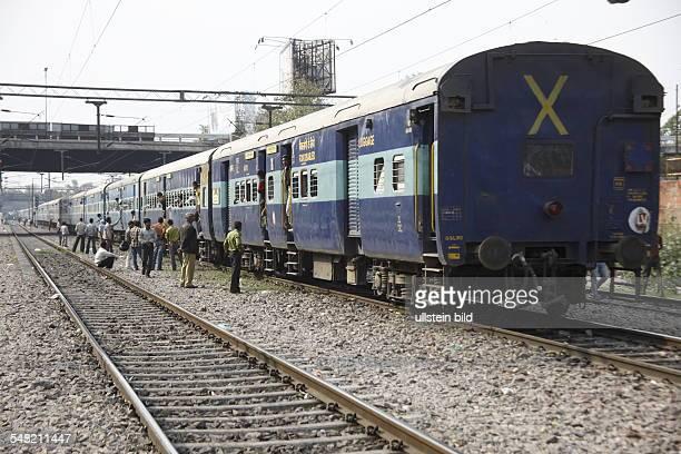 India Delhi New Delhi train at the station