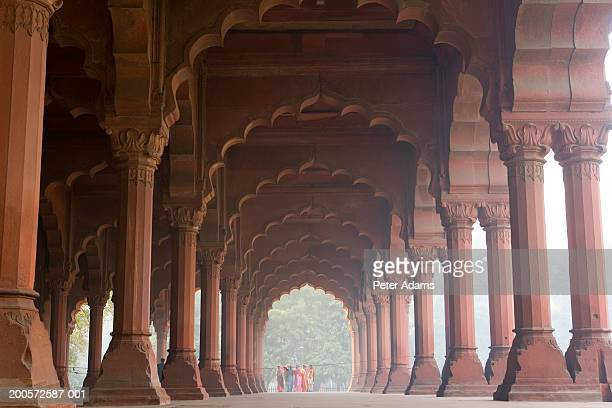 India, Delhi, Red Fort, colonnade