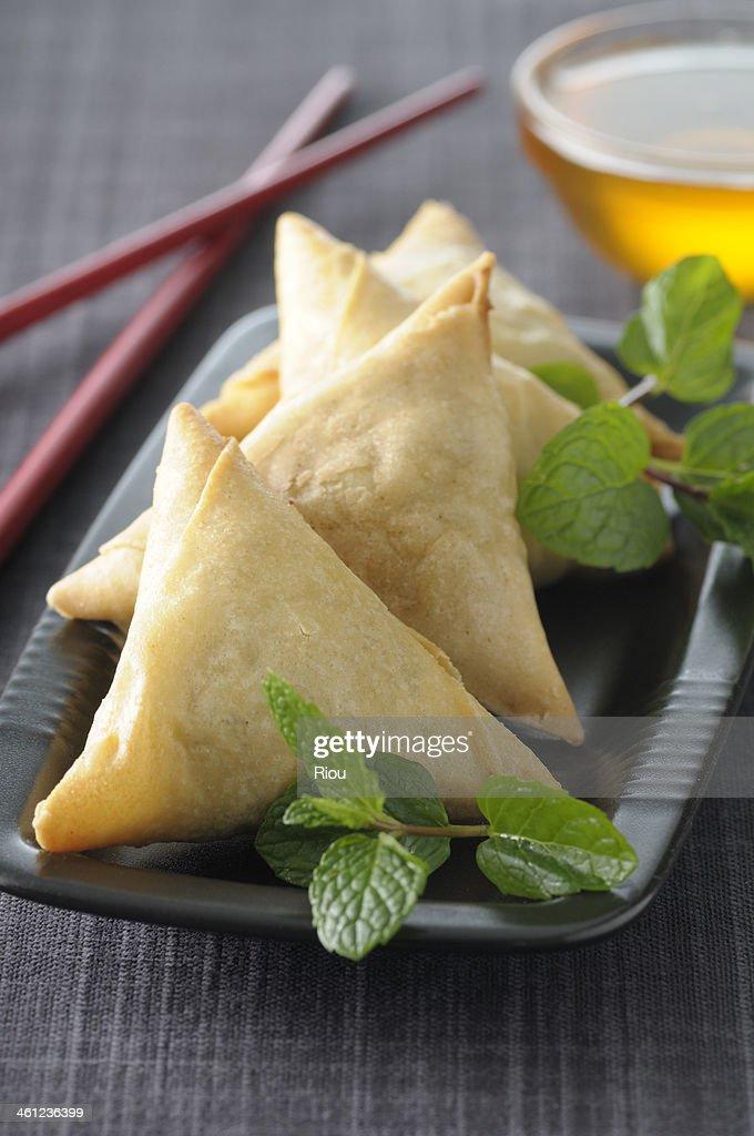 india food samosa : Stock Photo