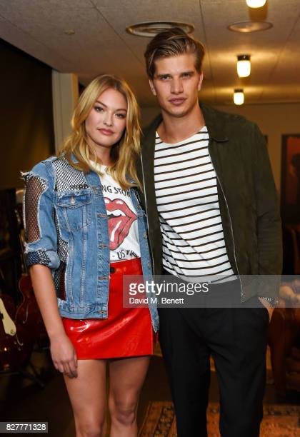 India Gants and Toby HuntingtonWhiteley attend the launch of James Bay's new Topman collection at The Ace Hotel on August 8 2017 in London England