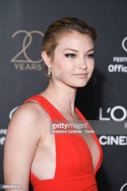India Gants attends Gala 20th Birthday of L'Oreal In Cannes during the 70th annual Cannes Film Festival at Martinez Hotel on May 24 2017 in Cannes...