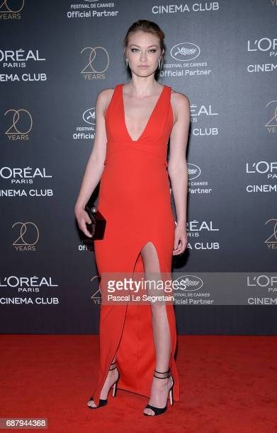 India Gants attends the Gala 20th Birthday Of L'Oreal In Cannes during the 70th annual Cannes Film Festival at Martinez Hotel on May 24 2017 in...