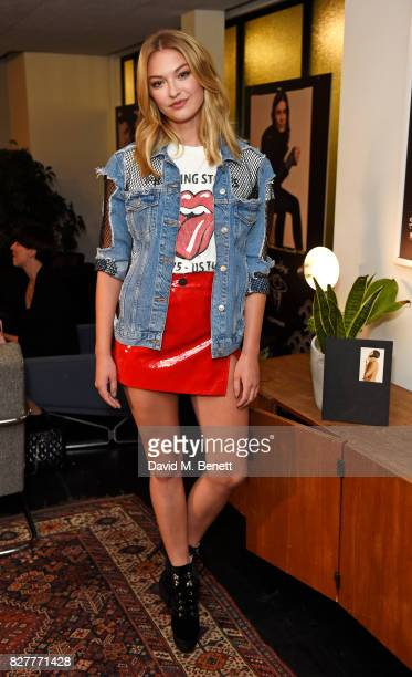 India Gants attends the launch of James Bay's new Topman collection at The Ace Hotel on August 8 2017 in London England