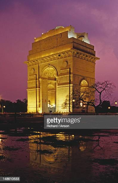 India Gate at dusk.