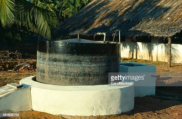 India General Biogas digester producing methane from cattle manure