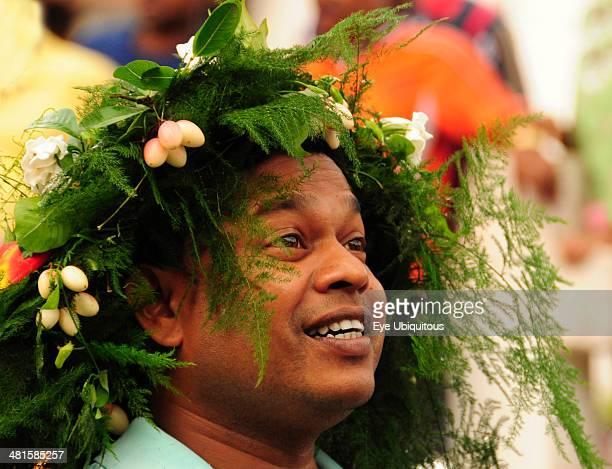India Goa Siolim San Jao Festival celebrated with flower head wreaths