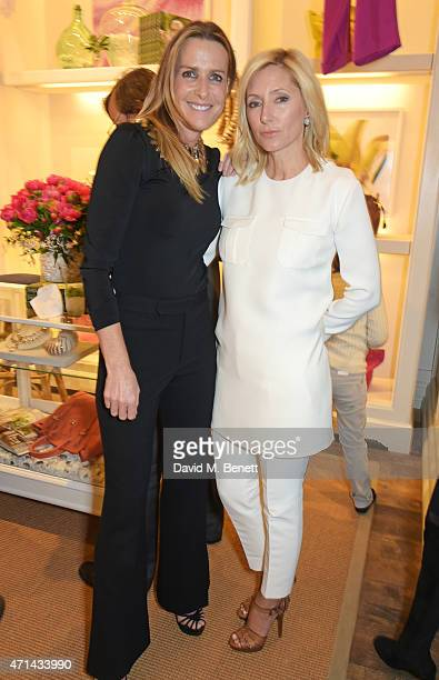 India Hicks and Marie Chantal Crown Princess of Greece attends the book launch party for 'India Hicks Island Style' at Ralph Lauren Fulham Road on...