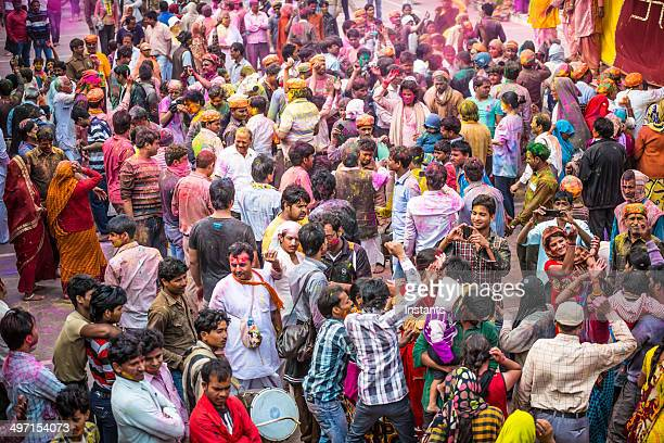 India Holi Day Crowd