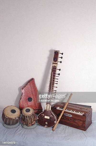Tabla Sitar Harmonium Flute Zither