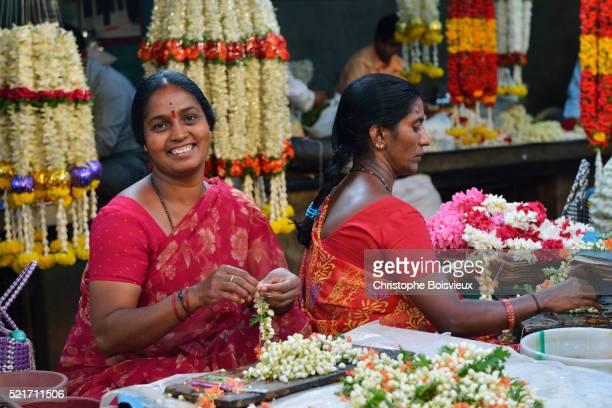 India, Karnataka, Mysore, Devaraja market, Flower market