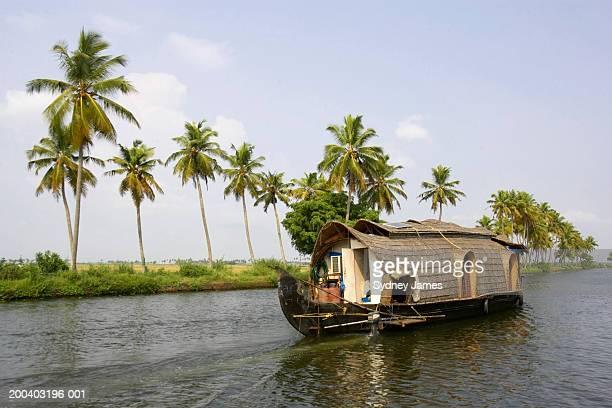 India, Kerala, Alappuzha, Kettuvallam house boat