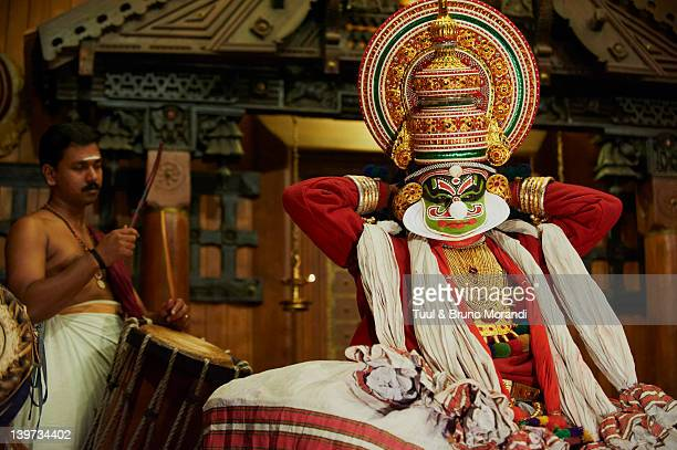 India, Kerala, Fort cochin, Kathakali dancers