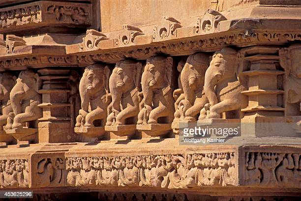 India Khajuraho Hindu Temple Complex 9501050 Ad Lakshmana Temple Elephants
