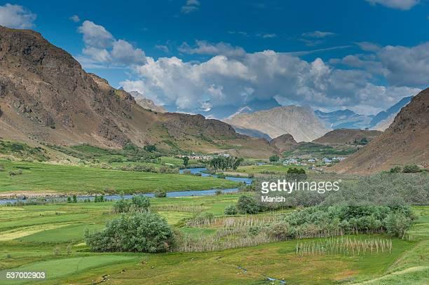 India, Ladakh, View of Kargil Village