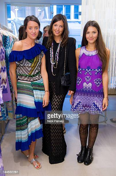 India Langton Amanda Ferry and Margherita Missoni attend the Missoni lunch at Missoni store Bond Street on May 15 2012 in London England