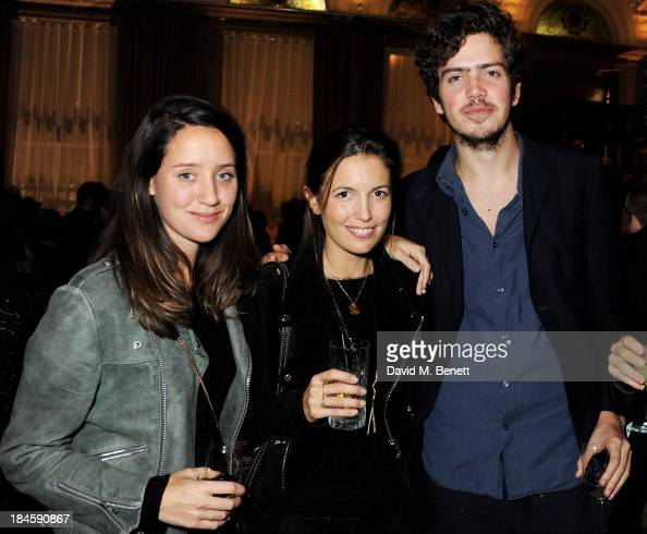India Langton Amanda Sheppard and Preston Thompson attend the London EDITION and NOWNESS dinner to celebrate ON COLLABORATION on October 14 2013 in...